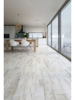 Driftwood Effect Rustic White Floor Tile