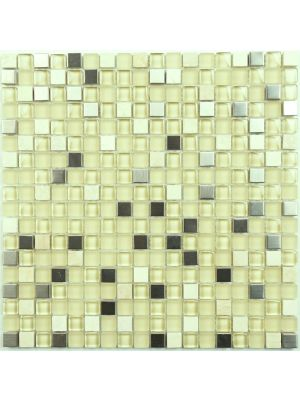 Glass Mosaic Tile | Sand Mini Mix 15 x15 mm