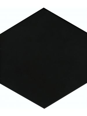 Hexag Black Porcelain Wall And Floor Tile
