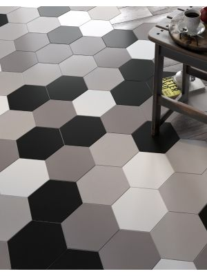 Hexag Light Grey Porcelain Wall And Floor Tile