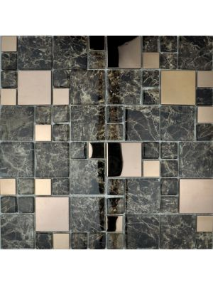 Metallic Modular Mosaic | Copper Mix