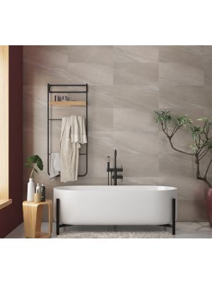 Lightweight Baltic Greige Stone Effect Porcelain Floor And Wall Tile