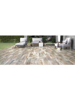 Reclaimed Misty Oak Nailed Wood Effect Floor Tile