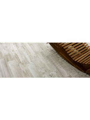 Reclaimed White Oak Nailed Wood Effect Floor Tile