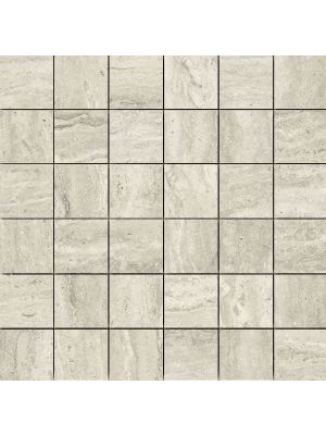 Matt Travertine Grey Stone Effect Mosaic Tile