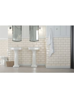 Metro Underground Bevelled Cream Wall Tiles 200 x 100