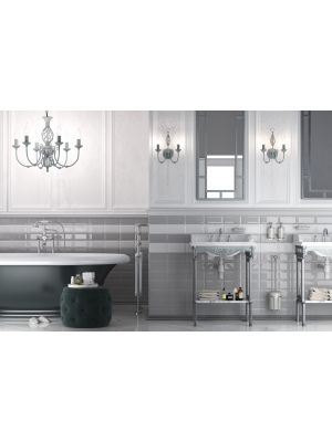 Metro Underground Bevelled Ice Grey Wall Tiles 200 x 100