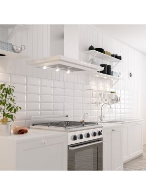 Metro Underground Bevelled White Wall Tiles 200 x 100