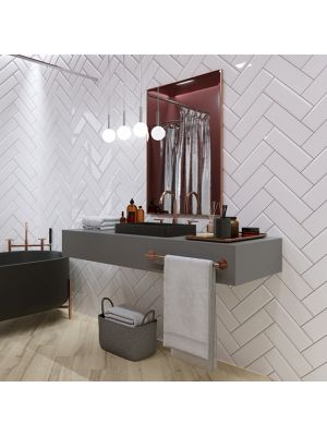 Metro Underground Bevelled White Wall Tiles 300 x 100