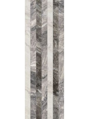 Nairobi Grey Decor Linee Wall Tile 28x85