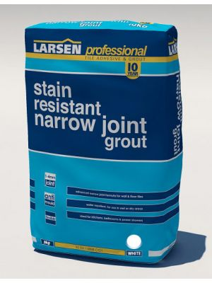 Stain Resistant Narrow Joint Grout White 3kg