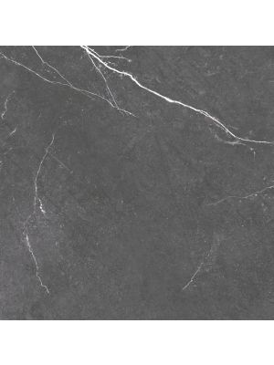 Rectified Black Gloss Marble Effect Porcelain Floor Tile