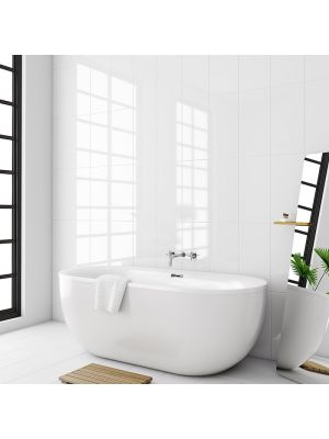 Rectified White Gloss Wall Tile 300x600