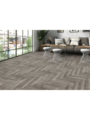 Ribera Grey Wood Effect Porcelain Tile