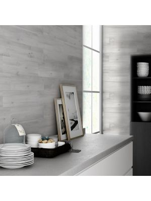 Ribera White Wood Effect Porcelain Tile
