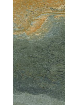 Rustic Slate Effect Riven Multicolour Porcelain Tile