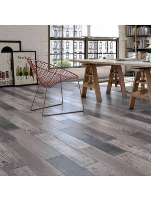 Samba Mix Grey Wood Effect Porcelain Floor Tiles