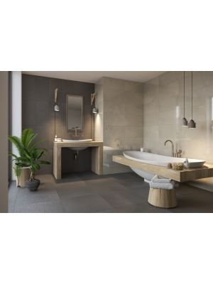 Sand Wash Grey Matt Porcelain Wall and Floor Tile 600x300mm