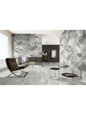 Tiede Gris Slate Effect Porcelain Wall And Floor Tile