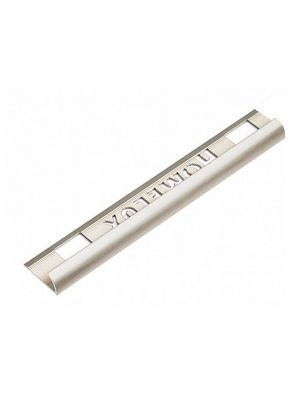 Tile Trim Stainless Steel Effect 9mm Round Edge Aluminium Homelux 1.2m