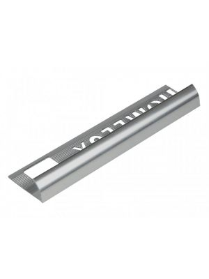 Tile Trim Silver Effect 9mm Round Edge Aluminium Homelux 1.2m