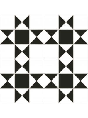 Victorian Black And White Floor Tile