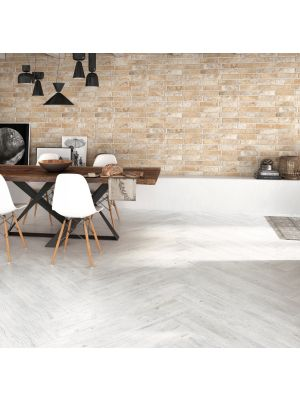 White Washed Wood Effect Porcelain Floor Tile