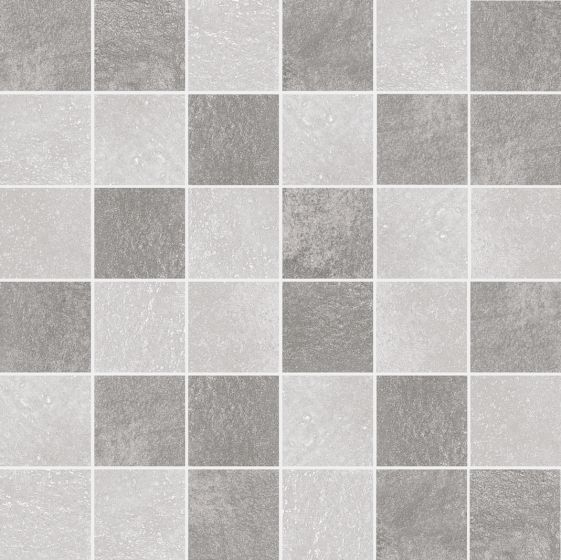 Energy Grey Concrete Effect Porcelain Mosaic Tiles