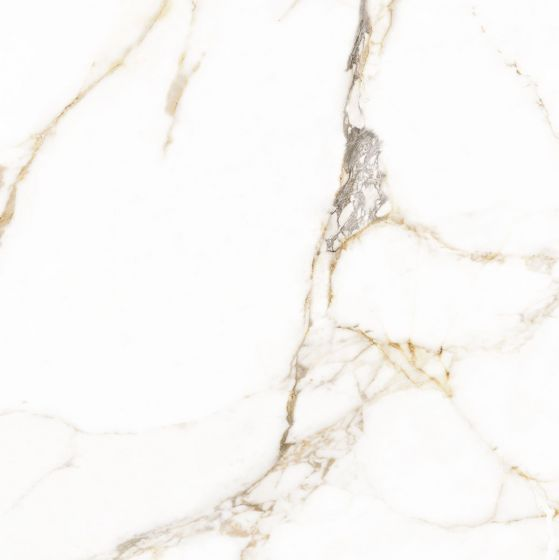 Calacatta Gold Marble Effect Polished Porcelain Floor Tile 800x800