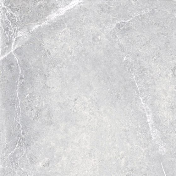 Rectified Grey Gloss Marble Effect Porcelain Floor Tile